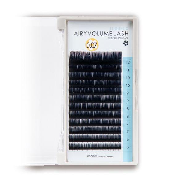 エアリーボリュームラッシュ リュクス D 0.07 × 5-12mm Mix