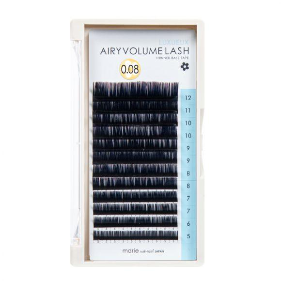 エアリーボリュームラッシュ リュクス D 0.08 × 5-12mm Mix
