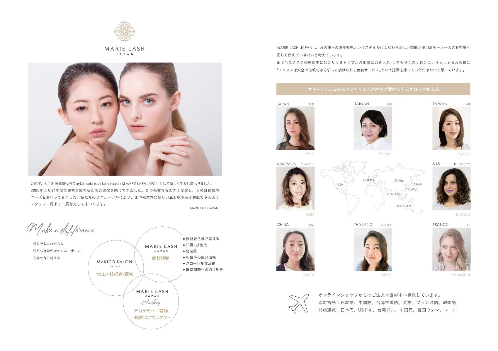 About MARIE LASH JAPAN brand
